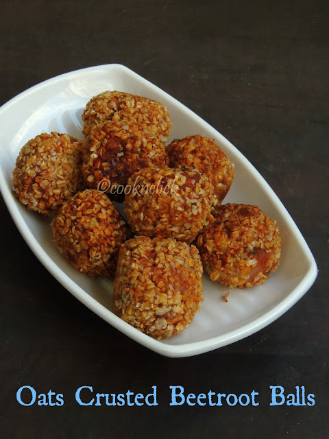 Oats Crusted Beetroot Balls