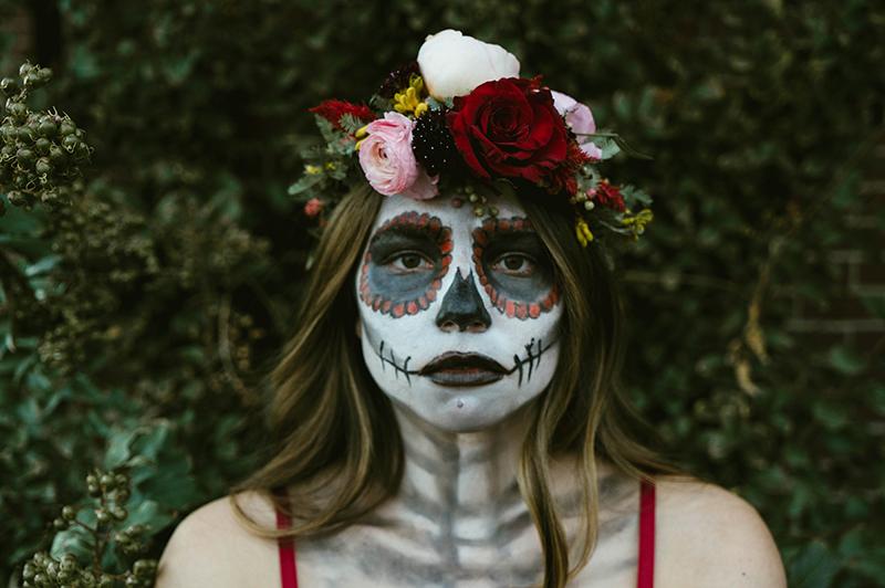 dead face makeup, stage makeup, ashley razo makeup