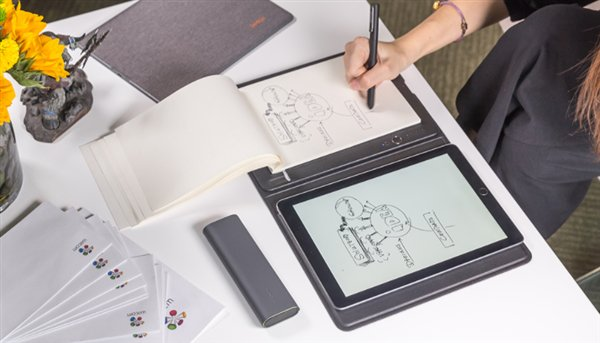 xiaomi bamboo slate, a tablet like device to digitize paper content