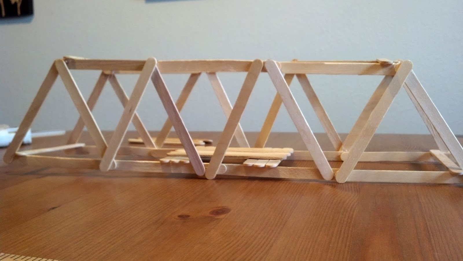 How to make a simple beam bridge out of popsicle sticks What to make out of popsicle sticks