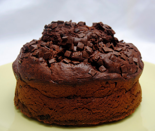 Bizcocho de Chocolate con Pepitas de Chocolate