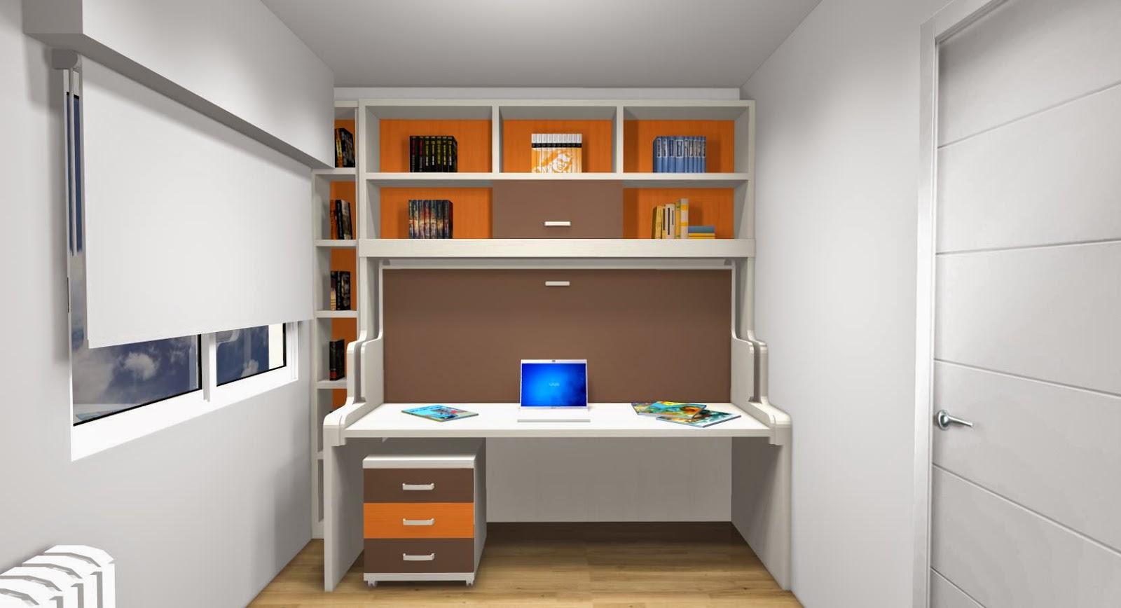 A continuaci n os ense amos diferentes dise os que hemos - Habitaciones juveniles con cama abatible ...