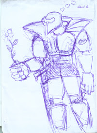 Flower Warrior drawing