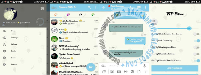 Download BBM Mod Blue Sky Theme Versi 3.0.0.18 Apk terbaru For Android