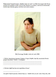 Kunst und umzu: Mia Unverzagt - Gefühle darstellen
