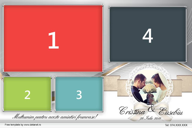 Free Dsrlbooth template Wedding-Grey-4pose