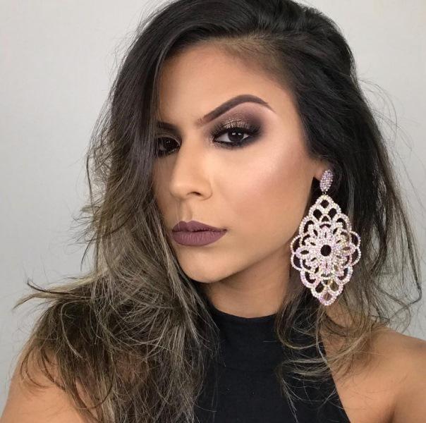 maquiagem de festa marrom makeup