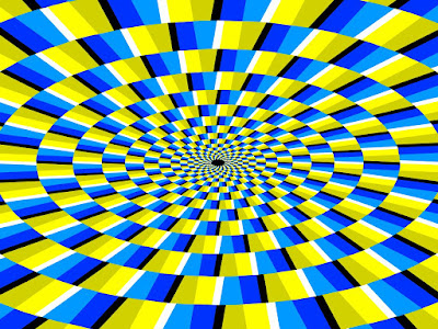 Optical Illusion Moving Pattern