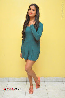 Telugu Actress Prasanthi Stills in Green Short Dress at Swachh Hyderabad Cricket Press Meet  0122.JPG