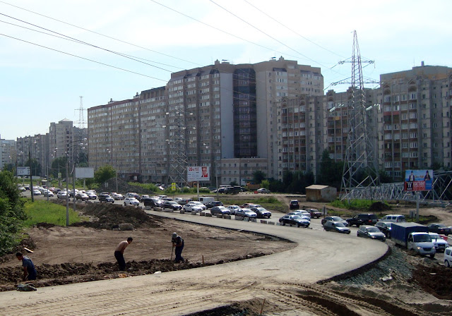 Самара, пересечение улиц Ташкентской и Демократической, строительство многоуровневой развязки.