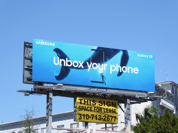 Unbox your phone Samsung Galaxy S8 billboard