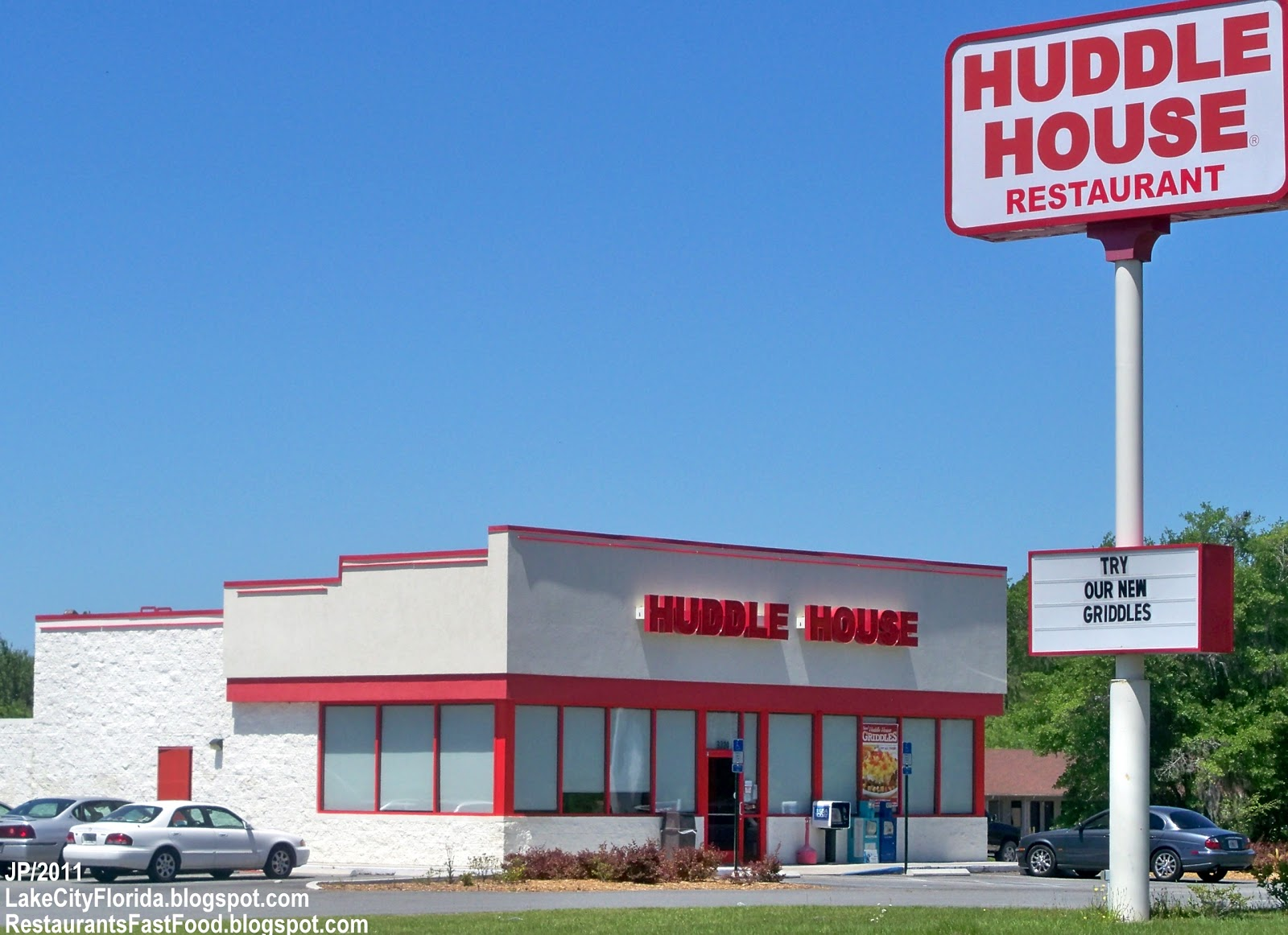 Huddle House Diner Restaurant Lake City Florida N Us Highway 441 Columbia County Fl