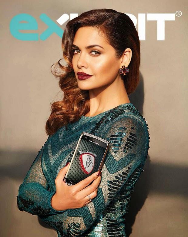 Esha Gupta on Cover of Exhibit Magazine November 2014