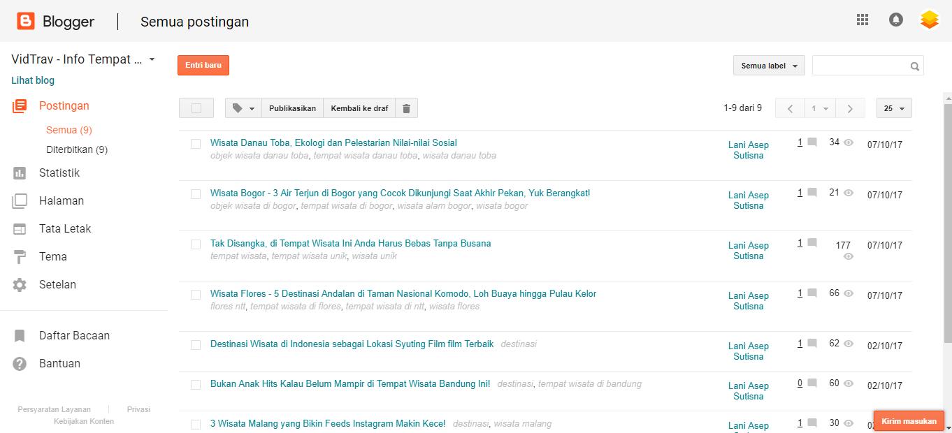 cara membuat website gratis blogspot
