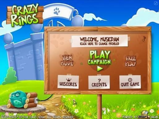 Screen Shot Of Crazy Rings (2012) Full PC Game Free Download At worldfree4u.com