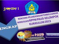 Contoh RPPM PAUD Kelompok B Semester 1 Lengkap Kurikulum 2013