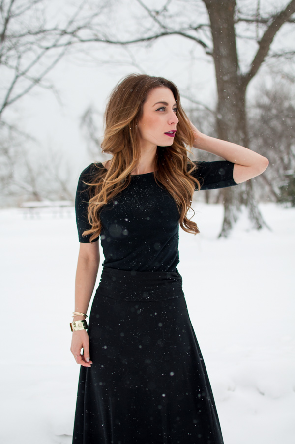 ootd black maxi skirt for winter la petite noob a. Black Bedroom Furniture Sets. Home Design Ideas