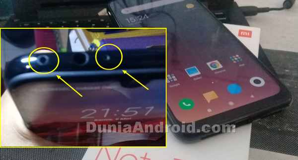 Fungsi Lubang kecil di atas Xiaomi redmi