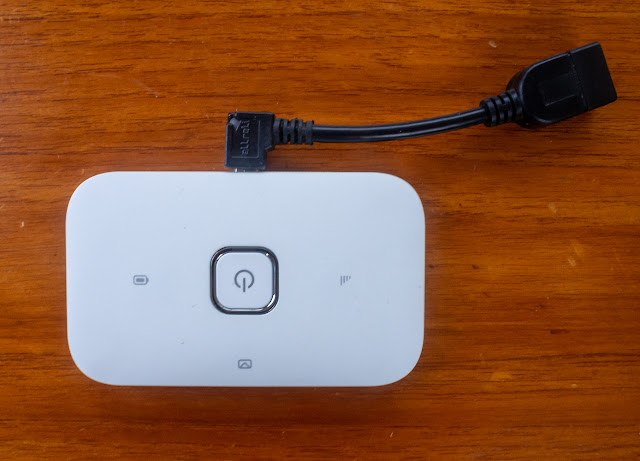 Photo of our Vodafone Wi-Fi box