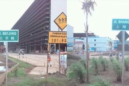 Selain Kibarkan Bendera RRC, Pekerja China Juga Pasang Plang Nama Jalan Beijing & Shanghai di Pulau Obi