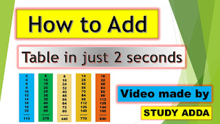 How To Add Table in Just 2 Seconds In hindi
