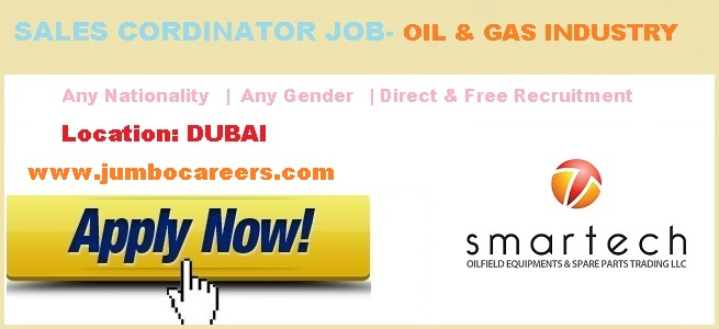 Sales Jobs in Oil & Gas Equipment Company UAE