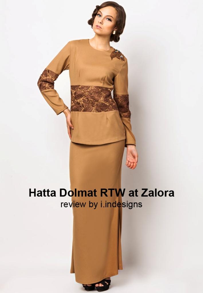 BAJU+RAYA+TERKINI++LIGHT+BROWN+LADY+LACE+ELEGANT+BY+HATTA - Modern Simple Dress