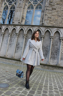 Clothes & Dreams: The skater coat: ASOS petite skater coat with Self Belt and Oversized Collar