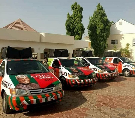 Atiku unveils PDP Branded 2019 Campaign Vehicles 48hrs After Quitting APC (See Photos)
