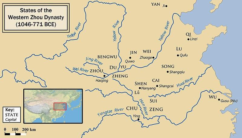 Western Zhou map