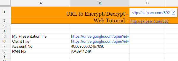 Password Protect Google Sheet