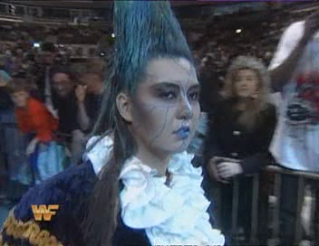 WWF / WWE - Summerslam 1994 - Bull Nakano on her way to challenge Alundra Blayze for the WWF Women's title