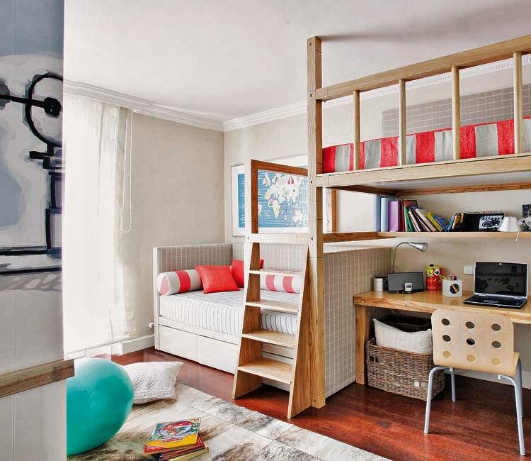 Two Kids Room: Cameră Copii Cu Pat Supraetajat Jurnal De Design Interior