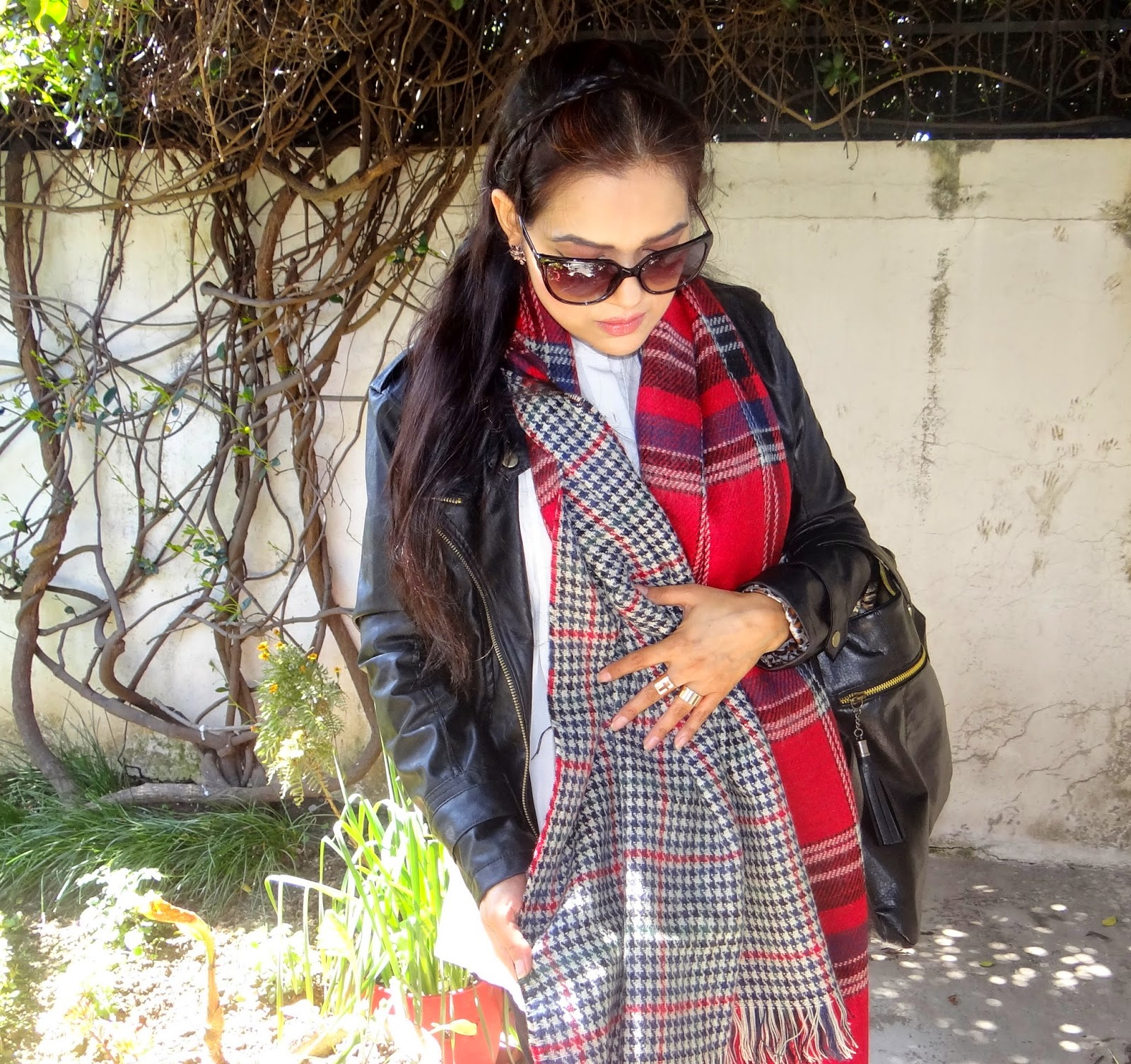 Plaid scarf from OASAP