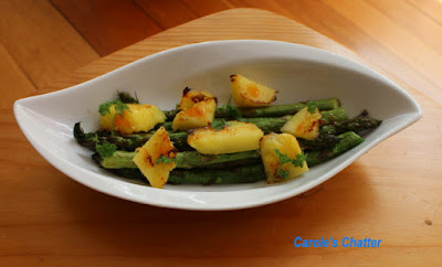 Carole's Chatter: Asparagus & Pineapple Grilled Salad