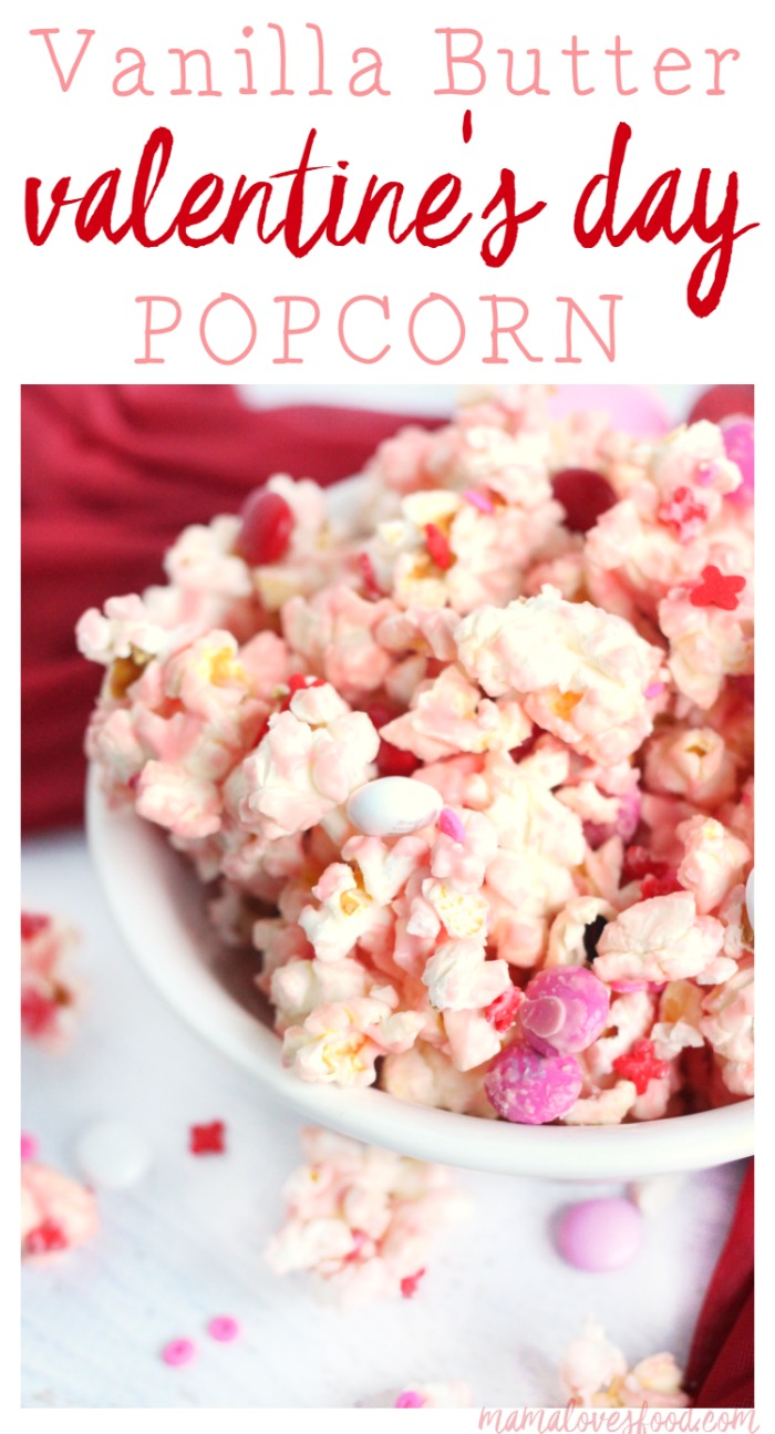 Vanilla Butter Valentine's Day Popcorn Recipe