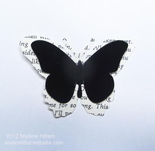 Layered die cut butterflies