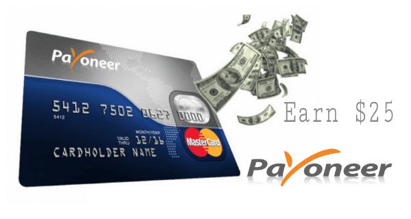 Kelebihan memiliki kartu payoneer, daftar bonus $25, payment processor