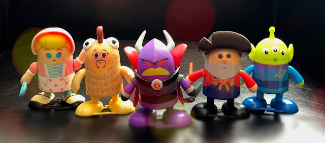 Toy Story 2 Shufflerz, Bo Peep, Al McWhiggin, Emperor Zurg, Stinky Pete and the Green Aliens