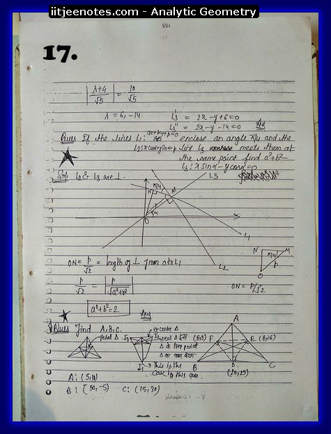 analytic geometry notes5