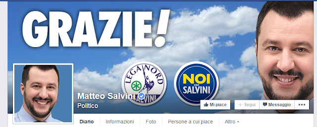 pagina facebook salvini