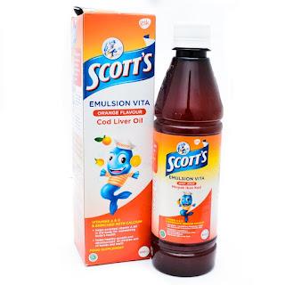 Scott's Emulsion Vita Rasa Jeruk Minyak Ikan Kod