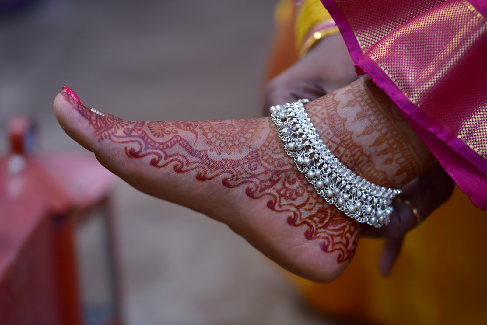 Words and Expressions: Wedding Moments: Silver Anklets – One of ...