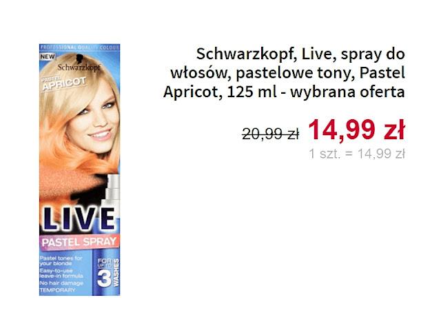 Schwarzkopf, spray do włosów, pastelowe tony