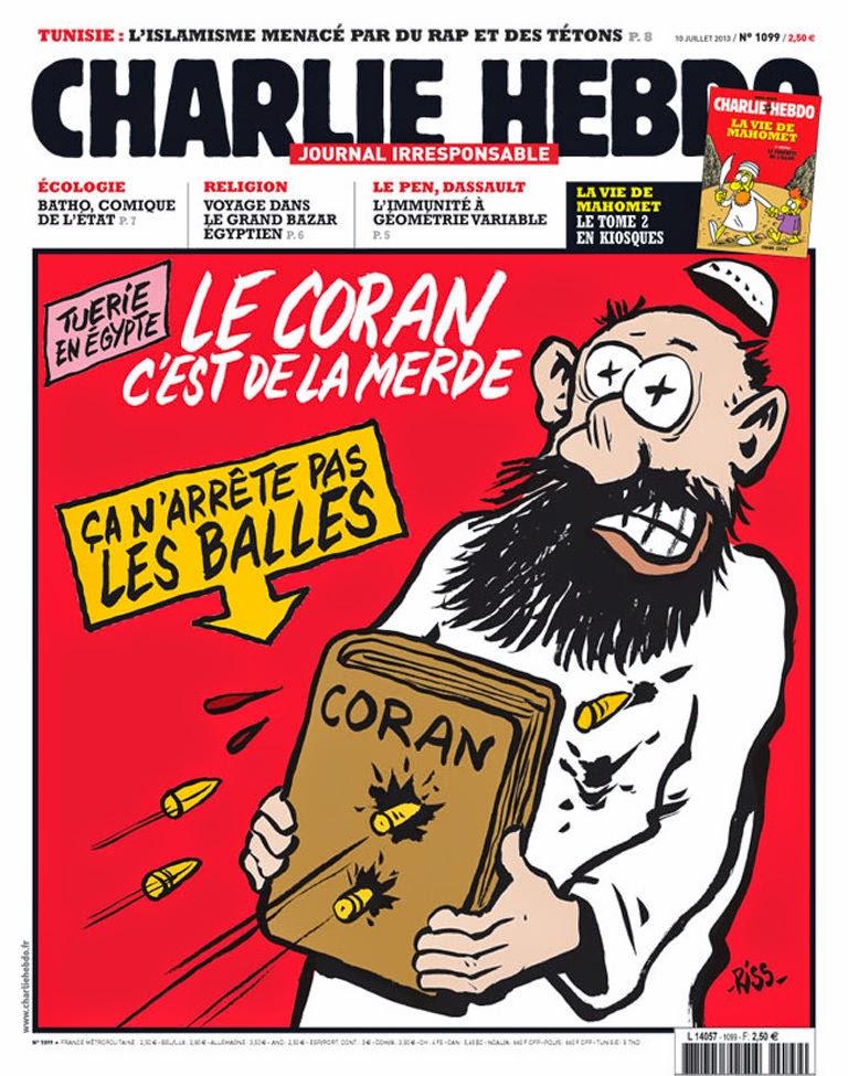 Charlie Hebdo Cover 2013/06; Zeichnung: Riss