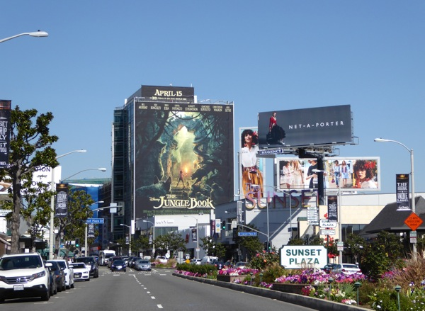 Giant Jungle Book movie billboard