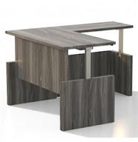 Mayline Aberdeen Height Adjustable L Desk