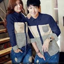 Baju Kemeja Couple Lengan Panjang