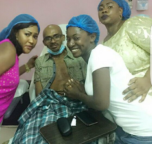 Ailing actor Leo Mezie gets a visit from his colleagues (see photos)