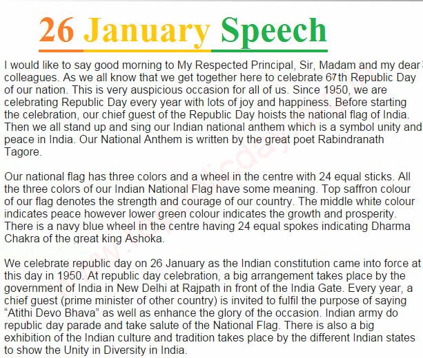 republic day speech for teachers in hindi english punjabi  26 speech for teachers in english